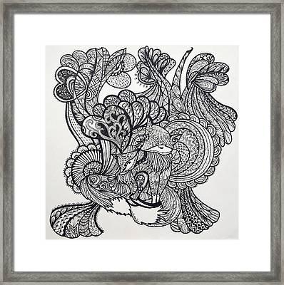 Fox Lover Framed Print by Venie Tee