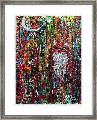 Fox Magic Framed Print by Julie Engelhardt
