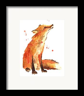 Red Fox Paintings Framed Prints