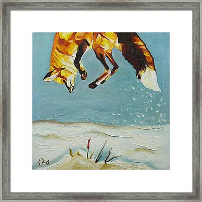 Fox Pounce - 1 Framed Print