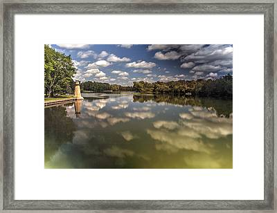 Fox River Lighthouse Geneva Illinois Framed Print