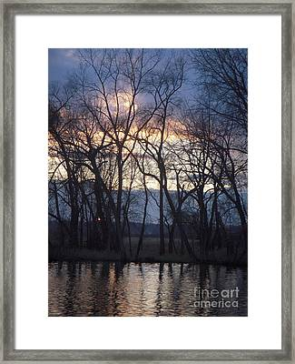 Fox River Sky Framed Print by Deborah Finley