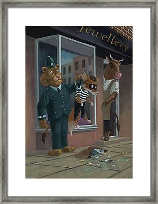 Fox Robber Caught Framed Print