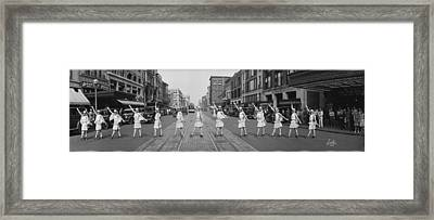 Fox Roller Skating Girls Washington Dc 1929 Framed Print by Panoramic Images