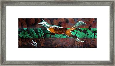 Fox Run Framed Print