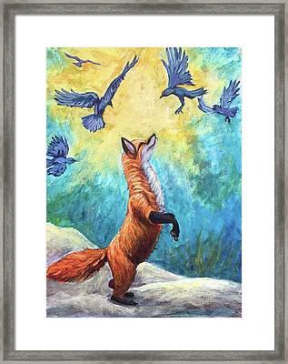fox Framed Print by Sebastian Pierre