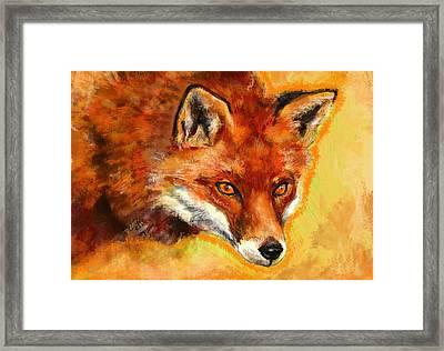 Fox Spirit - Kitsune Framed Print by Lakota Phillips