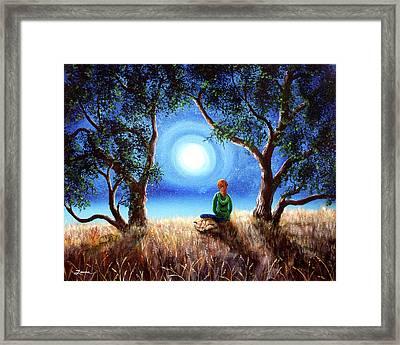 Fox Spirit Meditation Framed Print
