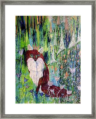 Fox Tale Framed Print by Julie Engelhardt