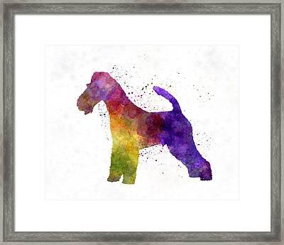 Fox Terrier In Watercolor Framed Print by Pablo Romero