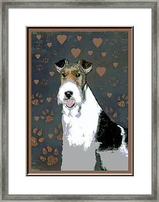 Fox Terrier Wire Framed Print by One Rude Dawg Orcutt