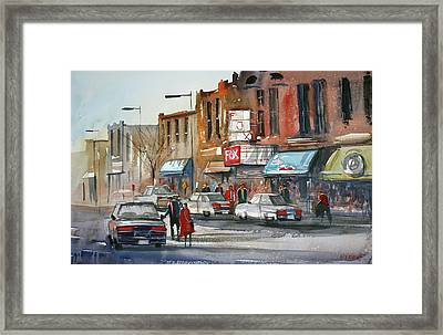 Fox Theater - Steven's Point Framed Print by Ryan Radke