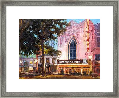 Fox Theatre In St.louis Framed Print