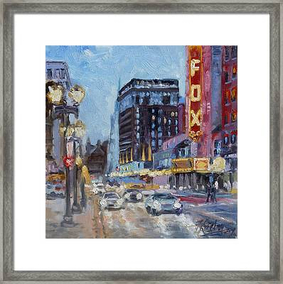 Fox Theatre On Grand Boulevard St.louis Framed Print