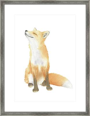 Framed Print featuring the painting Fox Watercolor by Taylan Apukovska