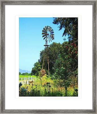 Foxen Adobe Windmill Framed Print by Deborah Hildinger
