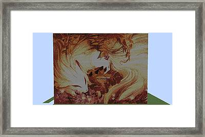 Foxes In The Leaves Framed Print by Nathanial Schlabs