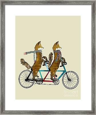 Foxes Lets Tandem Framed Print