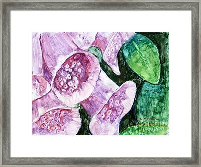 Foxgloves Framed Print by Laurie Morgan