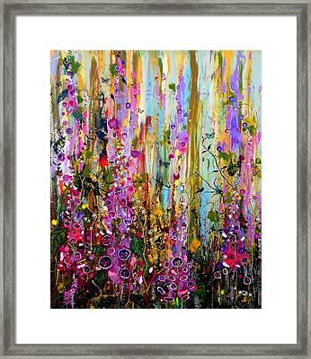 Foxgloves Panel One Framed Print