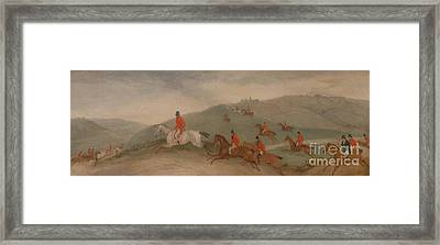 Foxhunting - Road Riders Or Funkers Framed Print