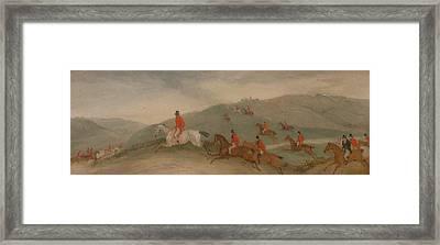 Foxhunting - Road Riders Or Funkers Framed Print by Richard Barrett Davis