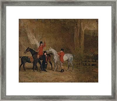 Foxhunting Scene Framed Print
