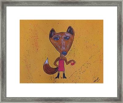 Foxxxy Framed Print by Tatum Chestnut