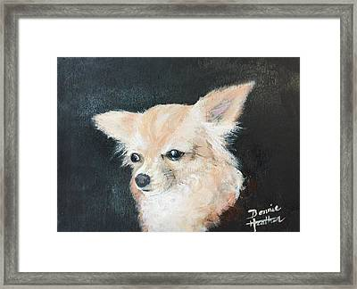 Framed Print featuring the painting Foxy Lady  by Bonnie Heather