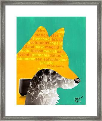 Foxy Framed Print by Nicholas Tullis