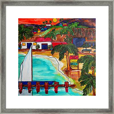 Foxy's At Jost Van Dyke Framed Print by Patti Schermerhorn