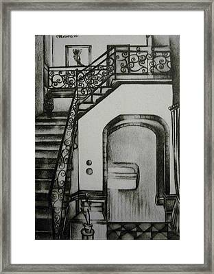 Foyer Architectural Rendering Framed Print