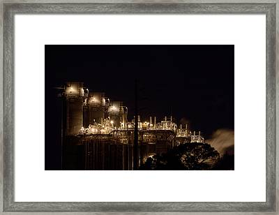 Framed Print featuring the photograph Fpl Natural Gas Power Plant  by Bradford Martin