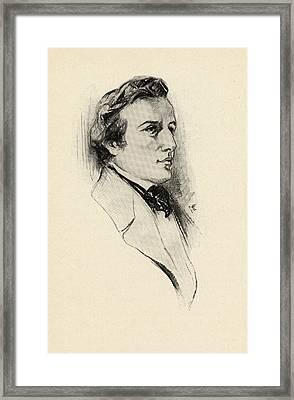 Fr D Ric Fran Ois Chopin, 1810-1849 Framed Print by Vintage Design Pics
