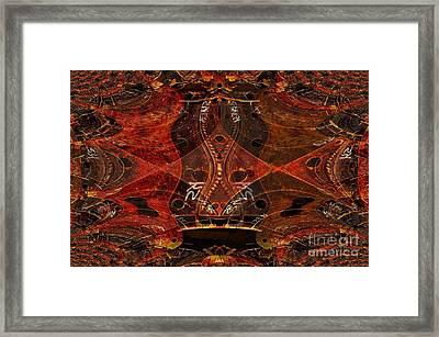 Fracs From Ferrum Framed Print