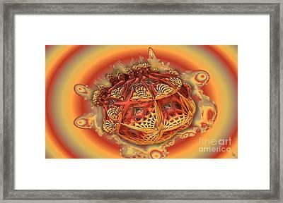 Fractal 3d Fractal Framed Print