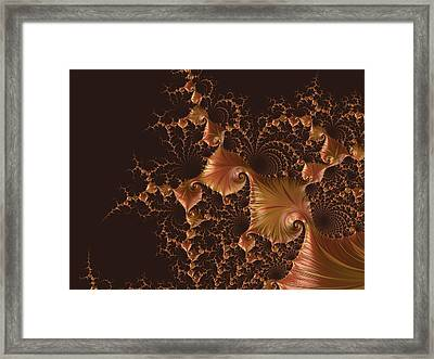 Framed Print featuring the digital art Fractal Alchemy by Susan Maxwell Schmidt