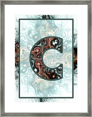 Fractal - Alphabet - C Is For Complexity Framed Print