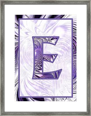 Fractal - Alphabet - E Is For Elegance Framed Print by Anastasiya Malakhova