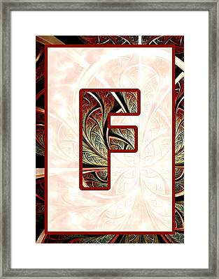 Fractal - Alphabet - F Is For Fractal Creations Framed Print by Anastasiya Malakhova