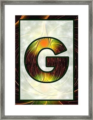 Fractal - Alphabet - G Is For Glow In The Dark Framed Print by Anastasiya Malakhova