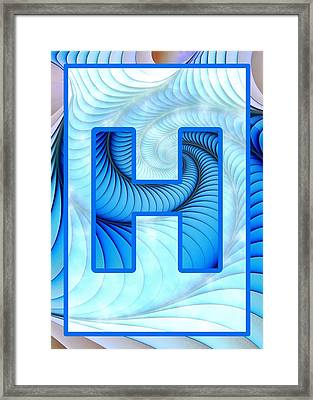 Fractal - Alphabet - H Is For Hypnosis Framed Print by Anastasiya Malakhova