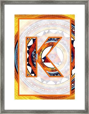 Fractal - Alphabet - K Is For Kaleidoscope Framed Print