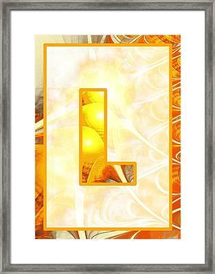 Fractal - Alphabet - L Is For Light Framed Print by Anastasiya Malakhova