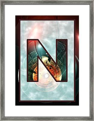 Fractal - Alphabet - N Is For Night Vision Framed Print