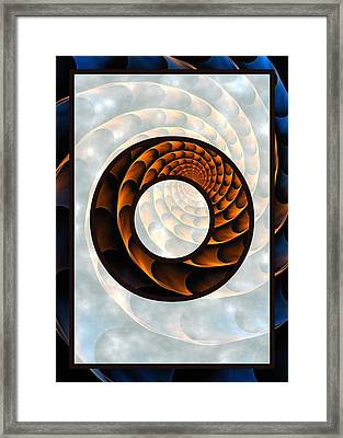 Fractal - Alphabet - O Is For Out Of Reach Framed Print