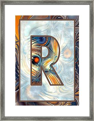 Fractal - Alphabet - R Is For Randomness Framed Print by Anastasiya Malakhova