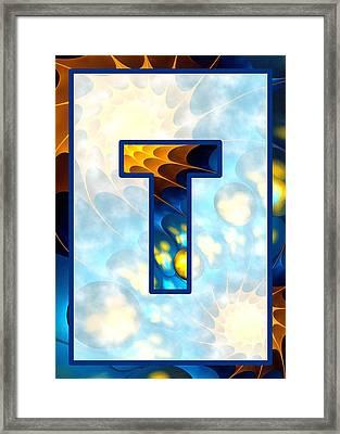 Fractal - Alphabet - T Is For Thoughts Framed Print by Anastasiya Malakhova