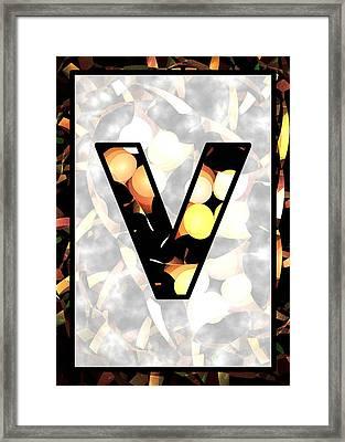 Fractal - Alphabet - V Is For Visual Perception Framed Print by Anastasiya Malakhova