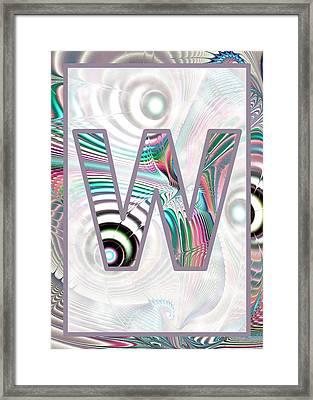 Fractal - Alphabet - W Is For Waves Framed Print by Anastasiya Malakhova